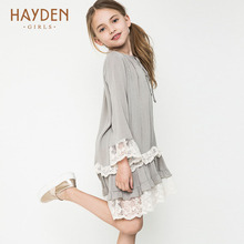 Buy HAYDEN Bohemia teenage girls dress summer 7 9 11 years costumes spring children clothing kids clothes girls party frocks designs for $17.28 in AliExpress store