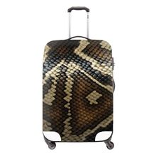 Cool snakeskin print thick portable elastic luggage cover waterproof suitcase protective covers for 18-30 inch trolley cases(China (Mainland))