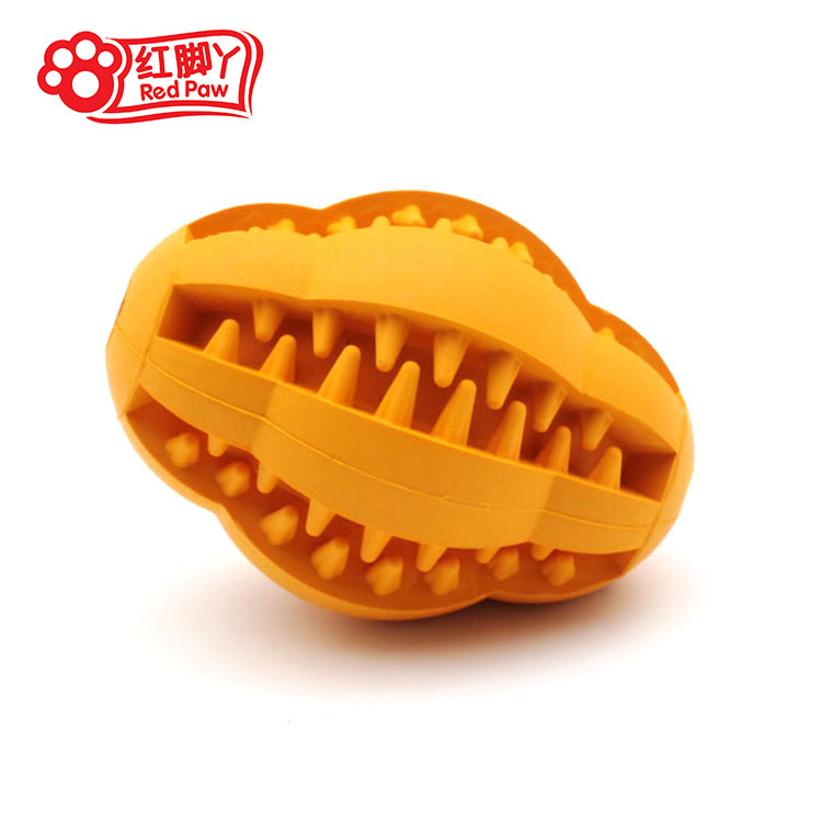 Hot Pet Dog Chew Toys - High Quality Rubber Cleaning Rugby Ball Product For Puppies Bite Training Toys In Stock PT3c3(China (Mainland))