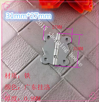 iron butterfly hinges for box flat open small gift box hinges 06(China (Mainland))