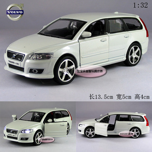 Free shipping 1:32 Volvo V50 2009 Alloy Diecast Car Model Vehicle Toys Gift Collection With Sound & Light White B189a(China (Mainland))