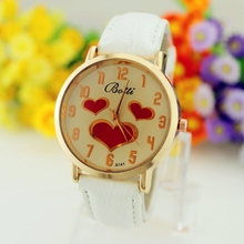 2015 Relojes Mujer reloj mujeres Relojes del cuarzo del cuero reloj deportivo Casual vestido de pulsera relogios feminino