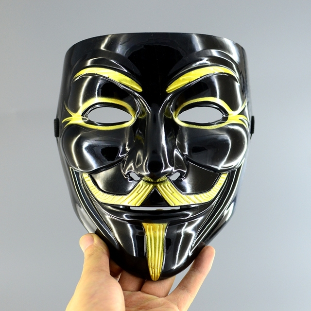 5pcs/lot Special Black Edition Mask Anonymous Movie Guy Fawkes Costume V Mask