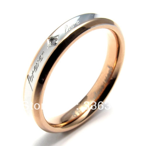 r0011 womens gold titanium stainless steel promise ring