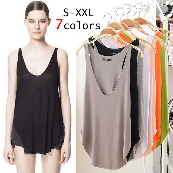 S - XXL, 7 Multicolor Summer Hot Sale Women Casual V-neck Loose Modal Tank Top, Ladies Sleeveless Plus Size Brand T Shirt, >3Pcs(China (Mainland))