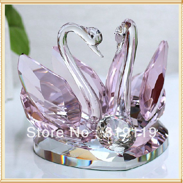 Couple Swans Cheap crystal decoration Wedding Favors for guest return ...