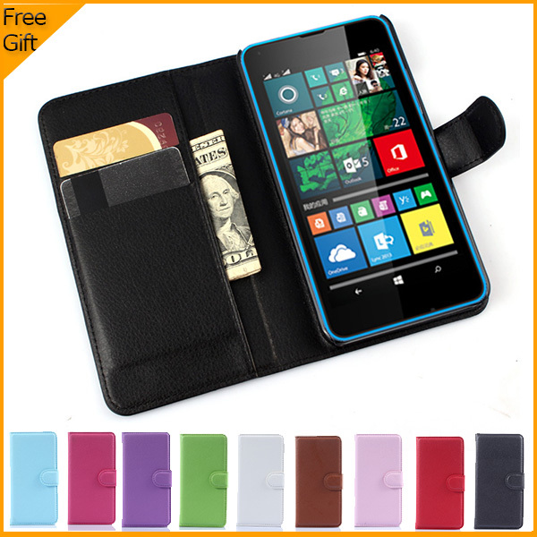 luxury wallet leather flip case cover for microsoft lumia