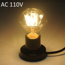 Top Sale AC 110V or 220V Retro Edison Diamond E27 40W 600Lm 2300 - 2700K Tungsten Filament Light Globe Bulb Warm White(China (Mainland))