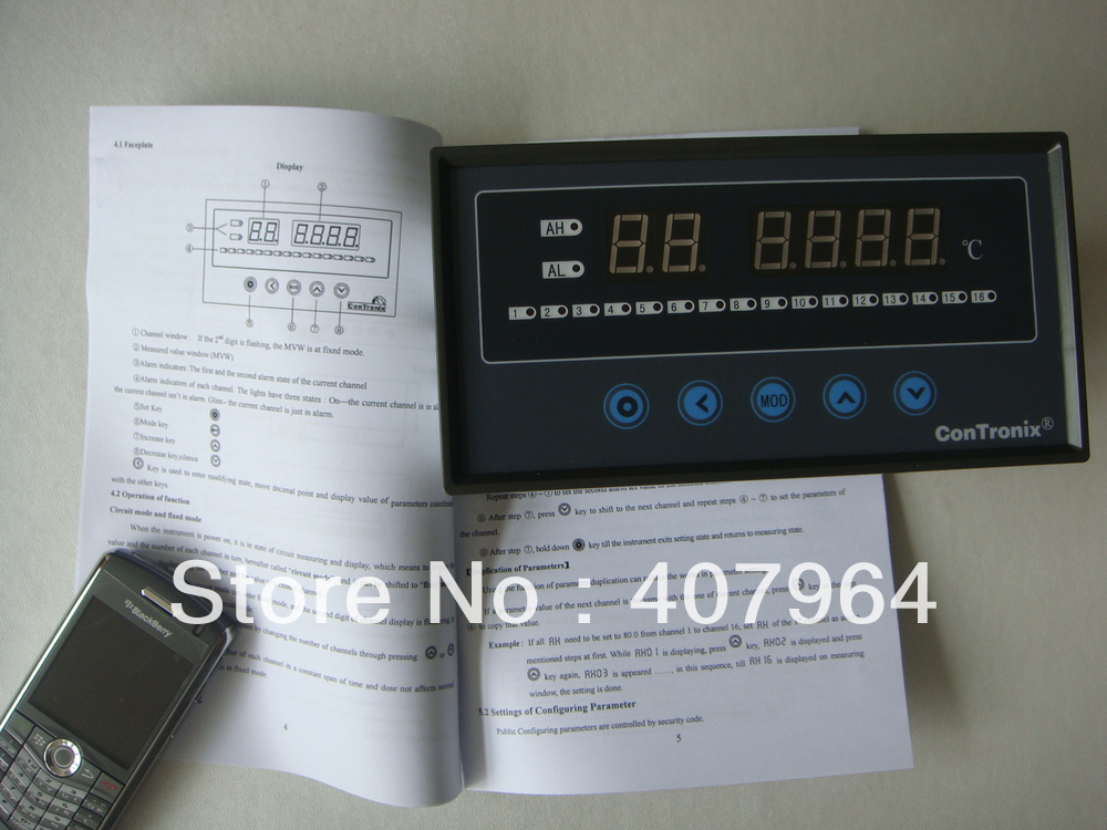 XSL16A/H  16 Channel Temperature Controller TC And RTD  Input Digital Indicator 85V AC~265 V AC Power Supply<br><br>Aliexpress