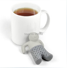 Mr. Tea Infuser Bathing Kids Shape Tea strainer Filter Teabags for Coffee Tea Leaves Silicone Drinkware Tools