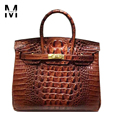 Celebrity Favourates Classic Ladies Luxury Alligator Crocodile Pattern Cowhide Genuine Leather Bags Handbags Women Big Tote