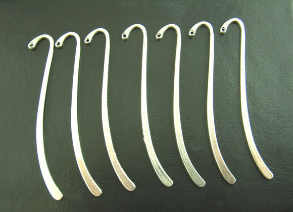 15 Pcs Silver Plated Bookmark With Loop 86mm(China (Mainland))