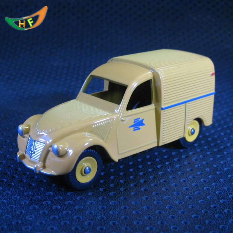 One piece Diecast cheap dinky toys Citroen 2CV Classic vintage car model antique miniature small metal toy collectible model car(China (Mainland))