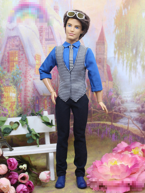 Prime quality Good-looking New Excellent Wedding ceremony Fits set Vest+ High+trousers Garments For Barbie 1:6 boyfriend Kem Doll BBI00106