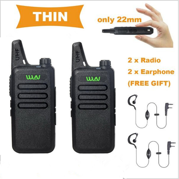 WLN KD-C1 5W long range Ultra-Thin Mini Walkie Talkie Radio Fashion Two-Way radio UHF 400-470 MHz(China (Mainland))