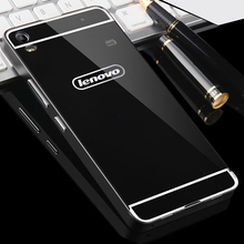 For Lenovo A7600 Case Luxury Aluminum Metal Bumper + Hard PC Back Cover for Lenovo S8 A7600 Phone Cases Coque Funda Protector