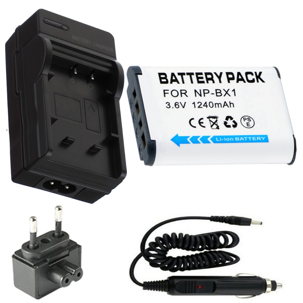 Battery + Charger for Sony HDR-MV1,HDR-AS10,HDR-AS10/B, HDR-AS15,HDR-AS15/B,HDR-AS30V,HDR-AS100V,HDR-AS100VR Action Video Camera