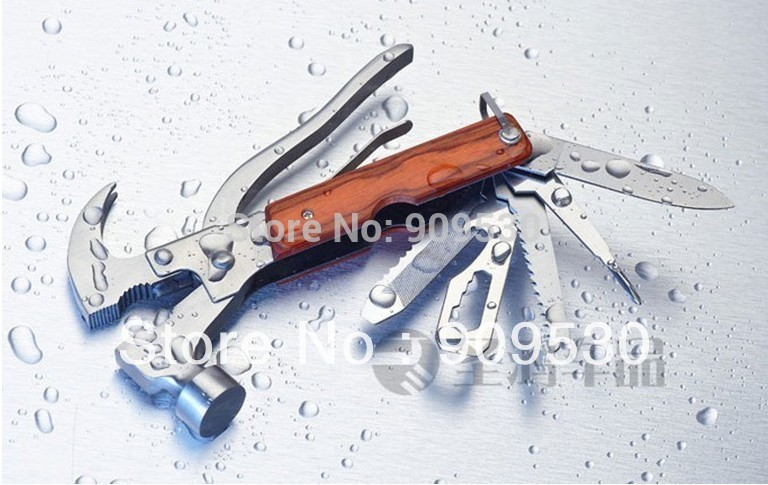 In 1 Stainless Steel Multifunction Axe Hammer Saw Knife Screwdriver Tool Free Shipping Mini Order 1