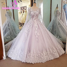 Buy Arabic Muslim Beautiful Sleeveless Hijab Wedding Dress Wraps Lace Applique Vestido De Noiva 2017 New Arrival Bridal Gowns for $395.86 in AliExpress store