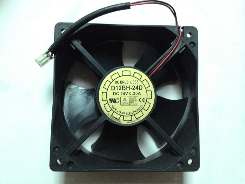 Free Shipping Wholesale YateLoon D12BH-24D 12038 12cm 120mm DC 24V 0.3A 12cm 2Wire APC SURT Cooling Fan(China (Mainland))