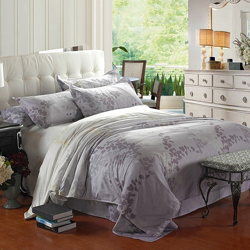 Luxury comforter 3d bedding sets king size bed line duvet for Luxury cotton comforter sets