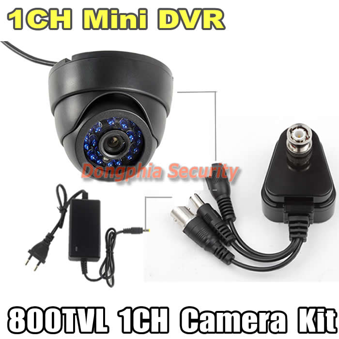 Surveillance Security CCTV System 1ch mini DVR with motion detection TF card 800TVL Dome Indoor Ir Camera Built-in IR-CUT filter<br><br>Aliexpress