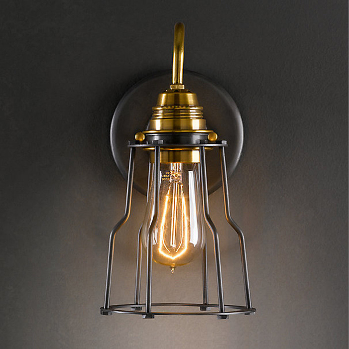 Nordic american craft small cage bar restaurant wall for American classic lighting