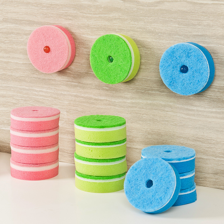 Nano-sided super decontamination wipe scouring suit with vacuum cups easy to hang kitchen tools magic sponge melamine sponge(China (Mainland))