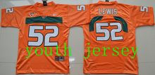 2016 new arrival,high-quality,Miami Hurricanes,#20 Ed Reed,#52 Ray Lewis,#26 Sean Taylor,for youth,free shipping,camouflage(China (Mainland))