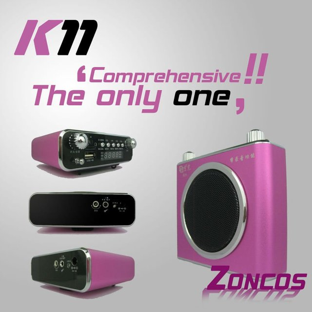 UnisCom K11 for  teacher & tour guide/ Digital Audio Player Flash MP3 Player FM Radio fashion Multifunctional amplifier Speaker