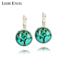 Vintage Silver Earrings Newest Lift Art Picture Earings Best Gift for Valentine's Day French Leverback Earrings for Women(China (Mainland))