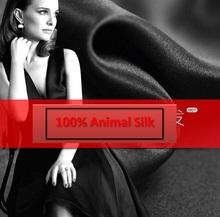 Buy 100% pure mulberry Soft Black silk satin 30 mu heavy heavy pure silk satin Silk Fabric scarf dressmaking materials yard H96- for $42.70 in AliExpress store
