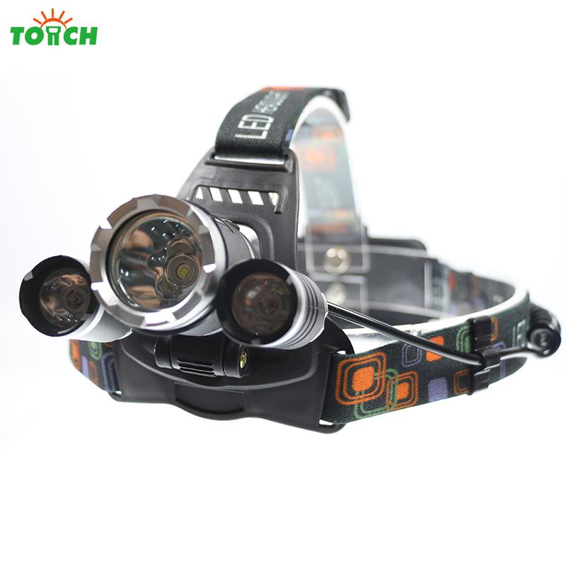 6000Lm CREE XML T6+2R5 LED Headlight Headlamp LED Head Lamp Headlight LED 4-mode torch Fishing Lights 7028(China (Mainland))