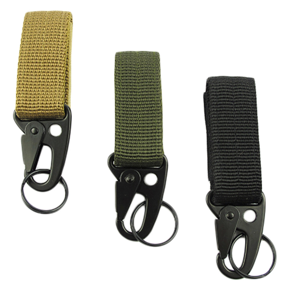 Hot! Men Outdoor Camping Tactical Carabiner Backpack Hooks Olecranon Molle Hook Survival Gear EDC Military Nylon Keychain Clasp(China (Mainland))