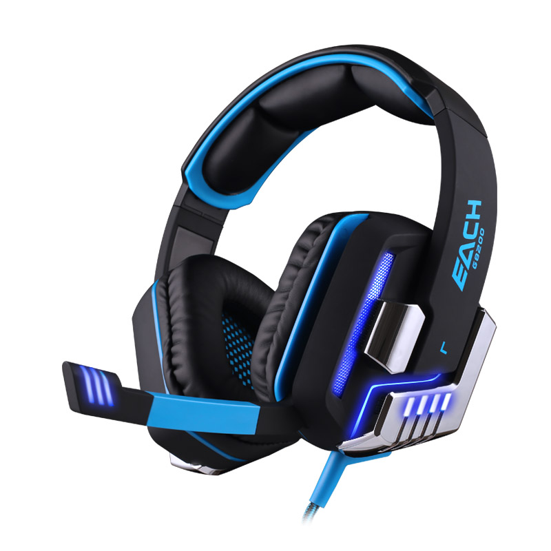 EACH G8200 Gaming Headphone 7.1 Surround Sound Headset Earphone Mic LED TH232(China (Mainland))