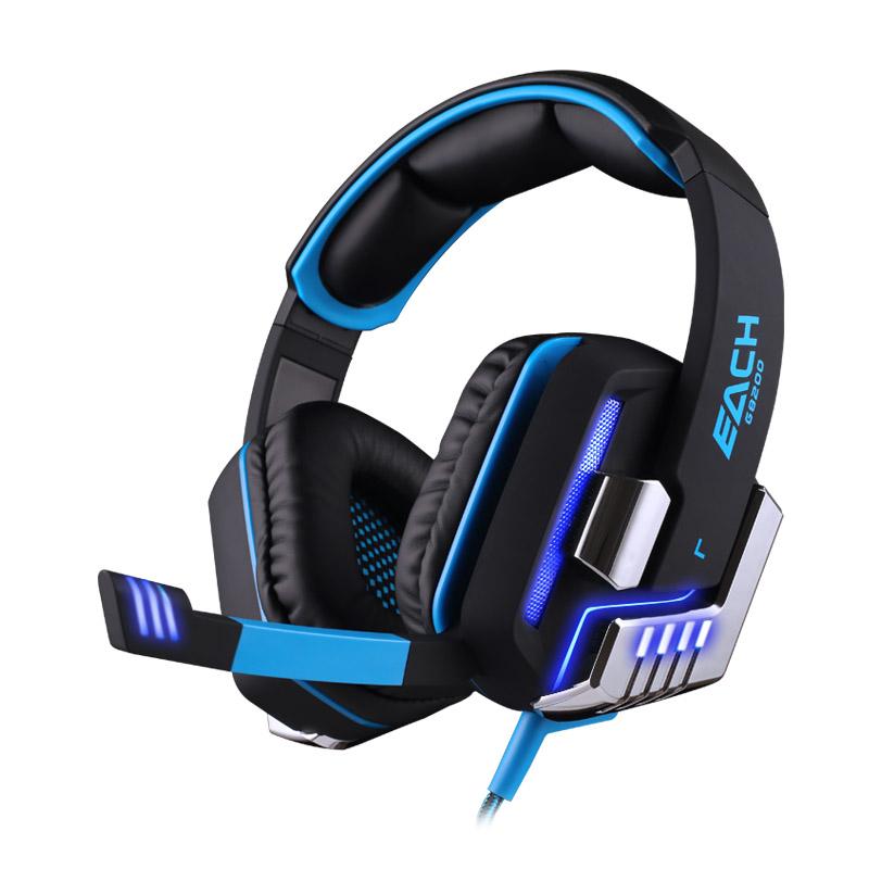 EACH G8200 Gaming Headphone 7.1 Surround Sound Headset Earphone Mic LED TH232(China (Mainland))