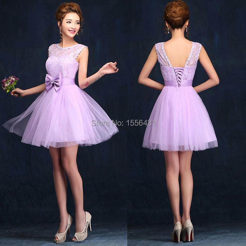 vestidos cortos lila fiesta