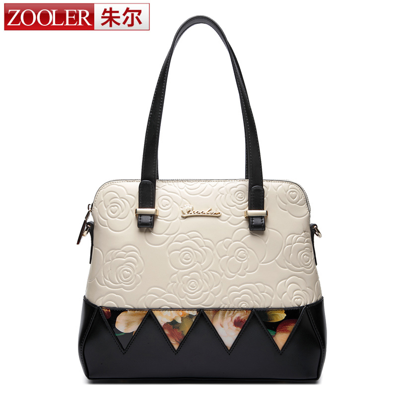 ZOOLER Brand women leather handbags Patchwork bag bags handbags women famous brands Rose embossing OL stlye bolsa feminina #1618<br><br>Aliexpress