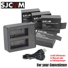 Hot 4x SJCAM SJ4000 Batteries +Dual Charger+USB Cable For DVR action Camera M10 SJ 4000 WIFI SJ6000 5000+ SJ7000 SJ9000(China (Mainland))
