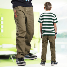 2014 spring summer autumn boy trousers 100% cotton trousers child casual pants(China (Mainland))