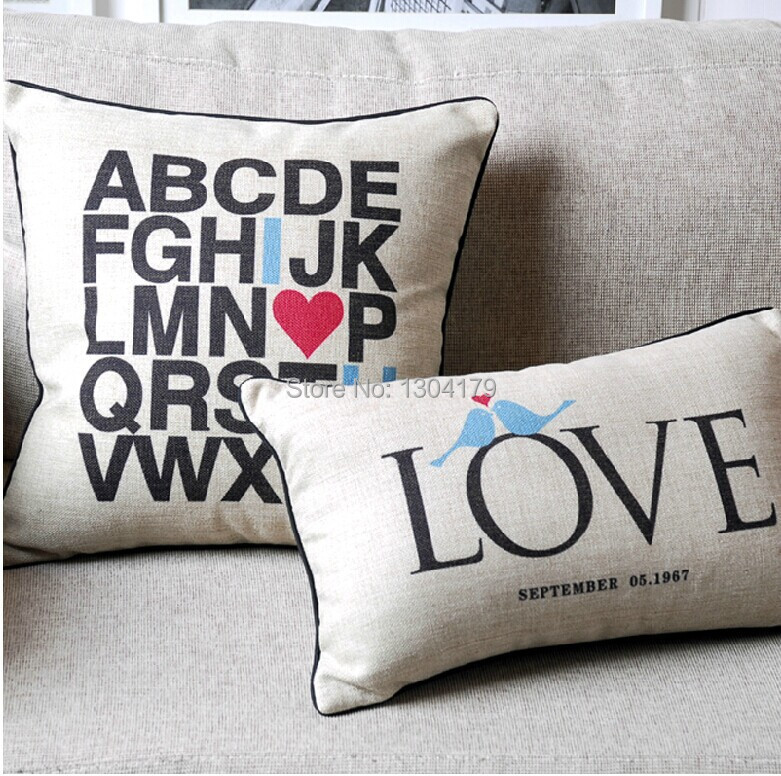 Wholesale 45X45cm Luxury Black and White Cushion Cover,Throw Pillow Case,Linen Cotton Home decorTextile Sofa Car Decoration
