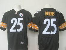 2016 Men Pittsburgh Steelers #25 Bruns Elite embroideried Logo Black White Draft Pick(China (Mainland))