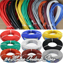 26 AWG Flexible Silicone Wire RC Cable 26AWG 30/0.08TS Outer Diameter 1.5mm With 10 Colors to Select(China (Mainland))