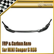Car Styling For BMW R56 Mini-S Clubman Aquary Carbon Fiber Front Lip