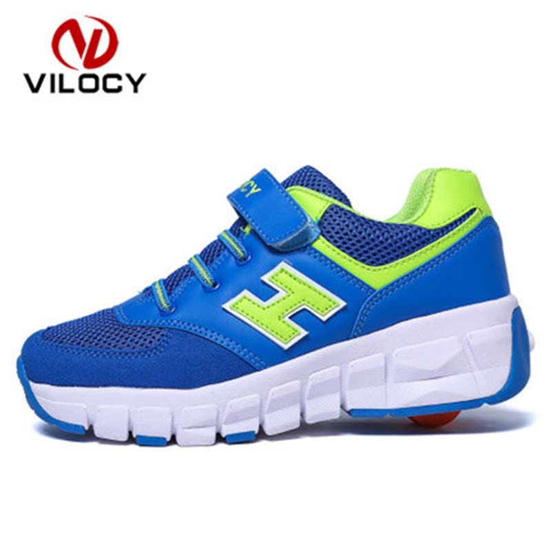 Roller Skate Shoes Boys Girls New Children Shoes Wheels Automatic Kids Outdoor Sneakers zapatillas deporte Roller Skate Shoes<br><br>Aliexpress