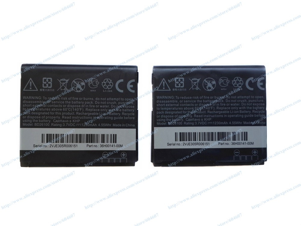 Lot 100pcs New BD26100 Battery For HTC Inspire 4G / Desire HD G10 / Surround T8788 AT&T Windows 7 Phone(China (Mainland))