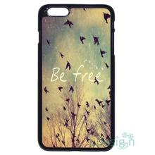 Fit for iPhone 4 4s 5 5s 5c se 6 6s 7 plus ipod touch 4/5/6 back skins cellphone case cover BE FREE Birds Tree Custom