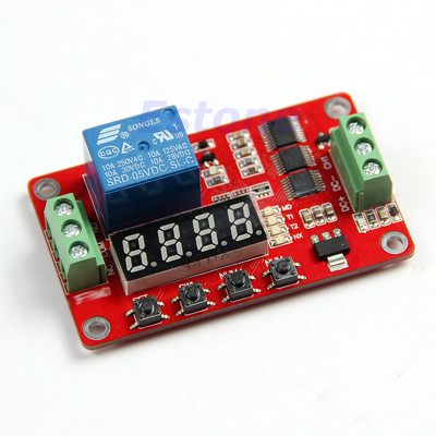 Free Shipping Multifunction Self-lock Relay Cycle Timer Module PLC Home Automation Delay 5V