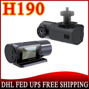 20pcs/lot no profit car dvr camera HD 720P 150 degree+the lens can be rotated 270 degree+8IR led H190(China (Mainland))