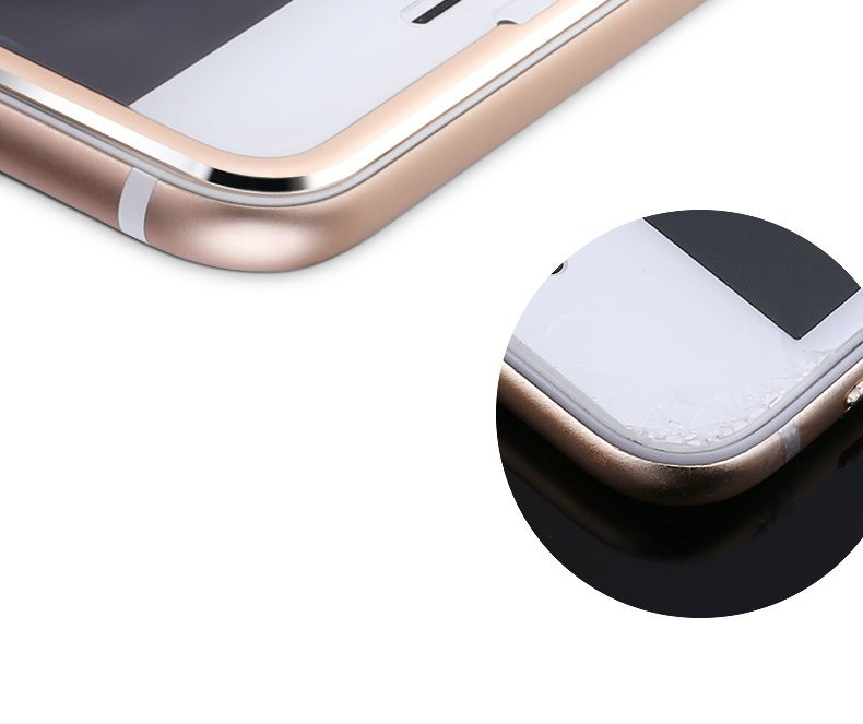 Aluminum alloy Tempered glass phone bag case For Apple iphone 6 6S 6 plus Mobile phone Accessories Full screen coverage cover